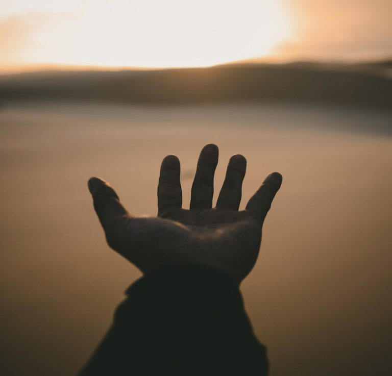 Ariad blog hand pointing to horizon